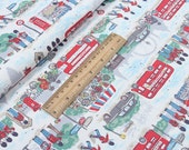 4229 - Cath Kidston London Streets (White) Cotton Canvas Fabric - 57 Inch (Width) x 1/2 Yard (Length)