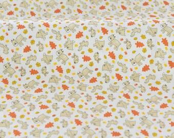 4189 - Animals Cotton Jersey Knit Fabric - 70 Inch (Width) x 1/2 Yard (Length)