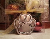 Paw Print Ornament Handmade Old Fashioned Tin Punch By West Tinworks
