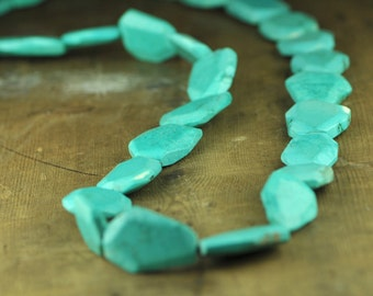 Turquoise Long Convertible Statement Necklace Sleeping Beauty Color