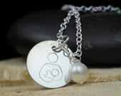 Sterling Silver International Breastfeeding Symbol Necklace - Advocacy Awareness Support