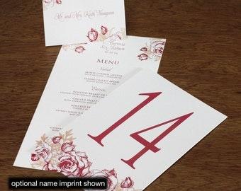 Aurora Menu, Table Marker & Place Card Set
