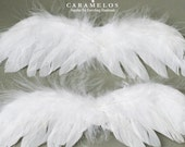 12 Small White Feather Angel wings