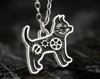 Chihuahua Dog Necklace Steampunk Industrial Pet