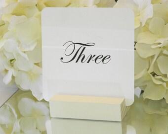 Table Number Holder + IvoryTable Number Holder (Set of 10)