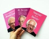 3 BERNIE SANDERS Valentine's Day postcards