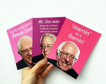 3 BERNIE SANDERS postcards - In Stock Ready To Ship