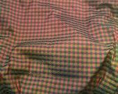 Forest, Red, & Blue Check  Silk TAFFETA Fabric - fat 1/4