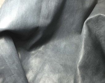 SMOKE GRAY Cow Hide Leather Piece #3