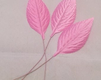 Vintage Millinery Leaves 3 pcs BABY PINK made in Japan