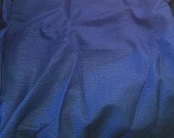 100% LINEN Fabric - PERIWINKLE BLUE - 1/4 Yard