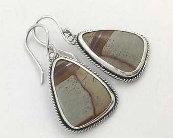 Indian Paintbrush Rhyolite Sterling Silver Earrings One of a Kind Resort Southwestern READY TO SHIP