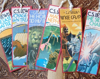 Narnia Vintage Book Cover Bookmarks Set