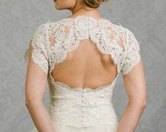 Plus SIze Keyhole Bridal Topper - Plus Size Topper - Keyhole Bridal Bolero - Charlotte