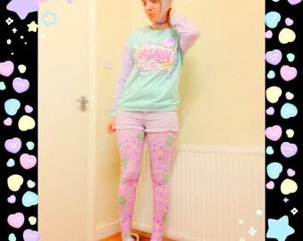 Trixie  the alien tights, Alien Tights, Galaxy Tights, Pastel Alien Tights