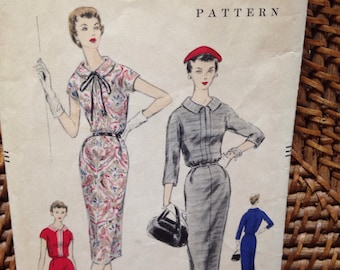 1955 Vogue 8636 dress pattern