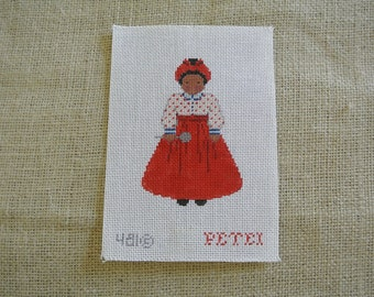 Needlepoint canvas - Sweet lady with spoon