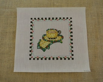 Needlepoint canvas - A nice cup of tea