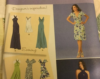 Simplicity 2580 Size 6-14, Dress In 2 Lengths, Bodice Variations, Pull Over Uncut