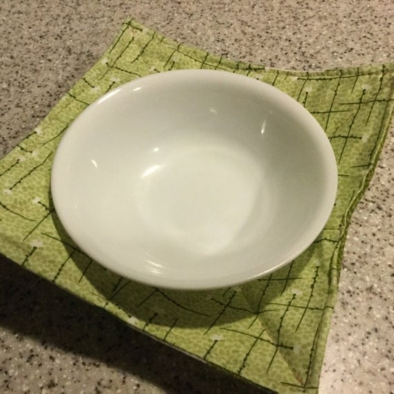 Bowl Pot Holder: Microwave Bowl Cozy Pot Holders Reversable Quilted Hands