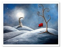love, hearts, haert art, whimsical, fantasy, surrealism, pretty winter, landscape, different, whimsy, art deco, wall art, home decor ideas