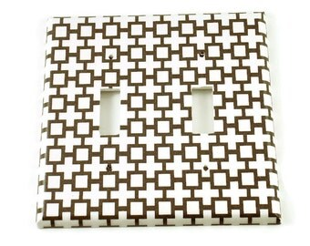 Double Switch Plate Light Switch Cover  Switchplate in Symbolic  (182D)