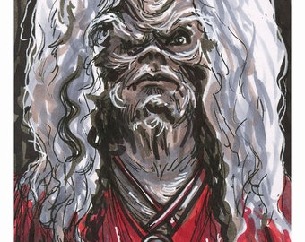 The Dark Crystal Augra Original Drawing Reproduction 5 x 7