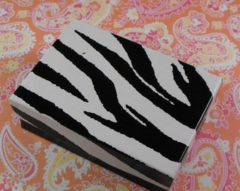 Summer Stock Up Sale 20 Pack Zebra Striped White and Black Color Cotton Filled Jewelry Boxes 3.25 X 2.25 X 1 Inch Size