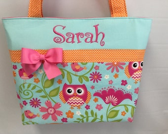 Chevron and Dots ...  OWL ...  DIAPER Bag ..   Tote ... Personalized FREE