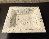 Antique pressed tin ceiling tile tray