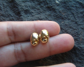 Earrings, Gold Tone Stud Earring, Stud Earrings, Vintage 80s Earrings, Pierced Earrings