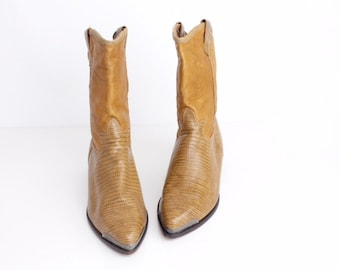 size 8.5 | Vintage Zodiac Leather Boots | Western Leather Boots | Slouchy Leather Boots | 39