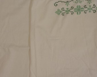 Vintage hand embroidered pillow cases