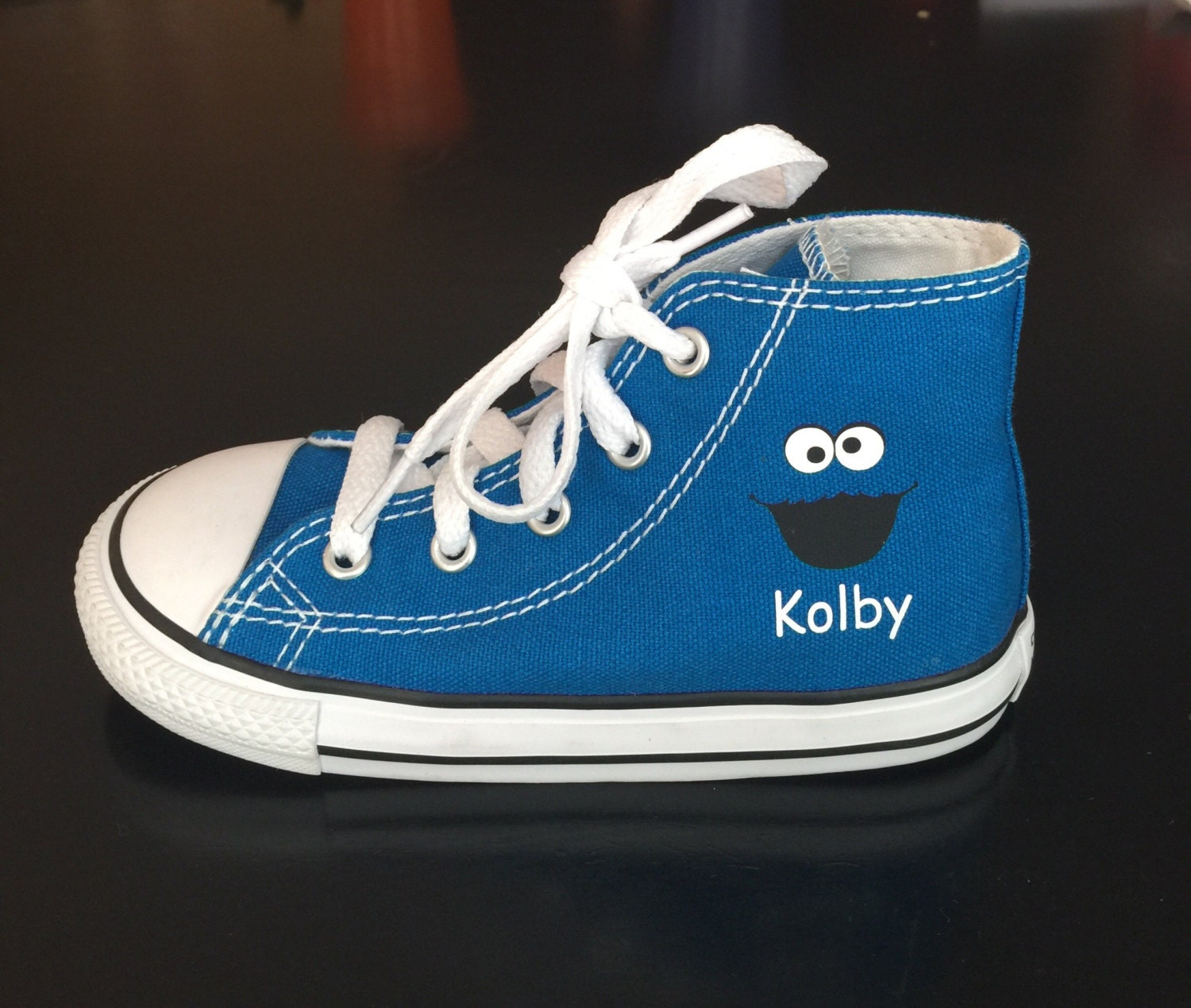 Cookie Monster Shoes Custom High Top Converse Shoes
