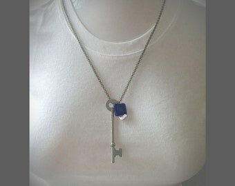 Bird on a Key necklace