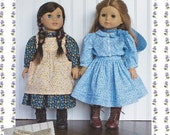 """18 inch doll Clothes Sewing Pattern Laura Dress Pattern 18"""" doll PDF clothing pattern LHOTP Kristin"""