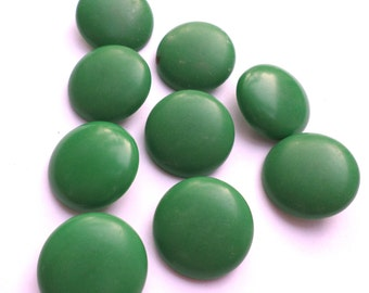 9 Green Shank Vintage Buttons
