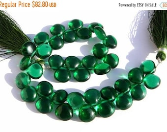 55% OFF SALE Full 8 Inches - AAA Chrome Green Quartz Smooth Heart Briolettes Size 10x10mm approx.