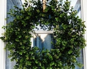 Boxwood Wreath, Spring Wreath, Summer Wreath, Year Round Wreath, Door Wreath, Interior Design, Wreath for all Seasons, Wreath for Door