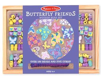 Melissa & Doug Butterfly Friends Bead Set - Kids Crafts fnt