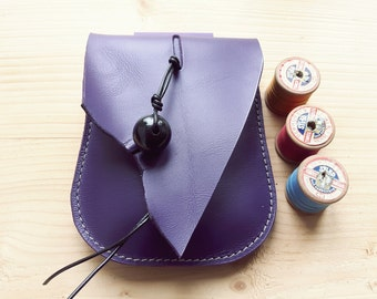 Fairytale woodland, hip bag, belt bag, Leather Pouch JINKS queen of hearts, 3092 pansy