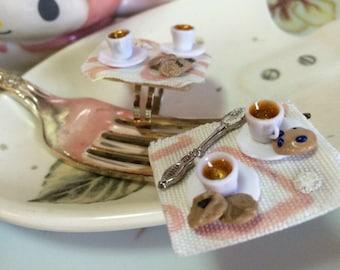 Tiny Tea Party Miniature Tray Ring