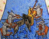 20 % off Armadillo String Quartet Animal Art Tile artwork