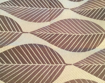 Beautiful Green and Brown Leaves Fabric 1 1/2 Yards