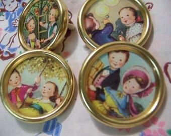 sweet little gold metal button frames