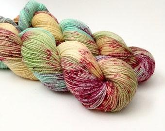 HONEY CRISP - Hand Dyed Yarn - Sparkle Sock Yarn Fingering - Ready to Ship - Vivid Yarn Studio
