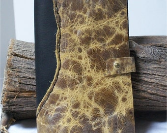 Midori Leather Travel Journal, Writing, Leather Notebook, Hand Stitched