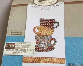 Coffee Towel Embroidery Kit