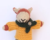 Charles - A handmade knitted fox soft children's toy wearing crochet clothes. Handmade gift, handmade toys, stuffed animal toy