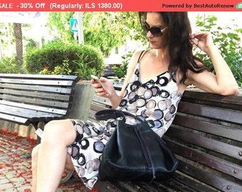 30% Off Leather Bucket Bag, Black Leather Handbag for Women, Hobo Bag, Black Leather Hobo Bag, Women Shoulder Bag, DrawstringCross-Body...